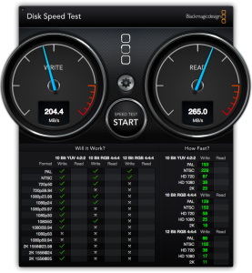 Read and Write speed test for a Samsung 840 series SSD (250GB)